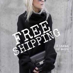 Free Shipping For 3 Items or More